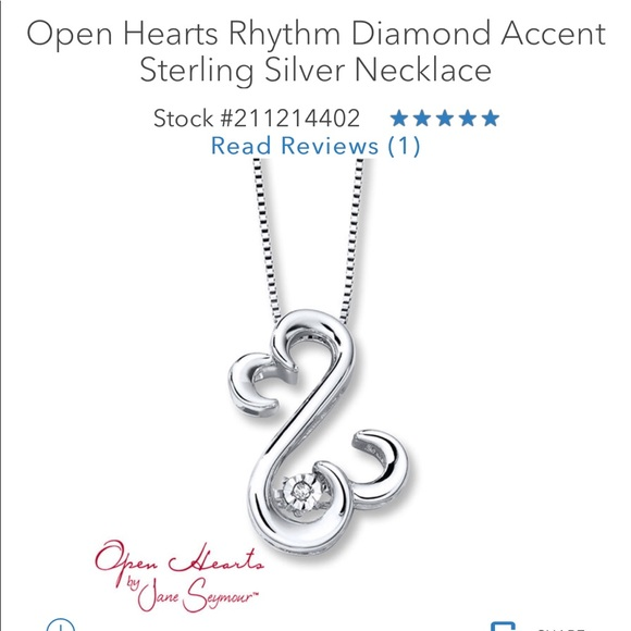 501c1b0d3 Kay Jewelers Jewelry | Kay Open Heart Rhythm Diamond Necklace | Poshmark